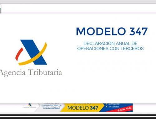 No olvide presentar el modelo 347 a Hacienda
