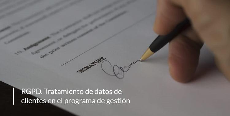 RGPD: tratamiento de datos de clientes en el ERP