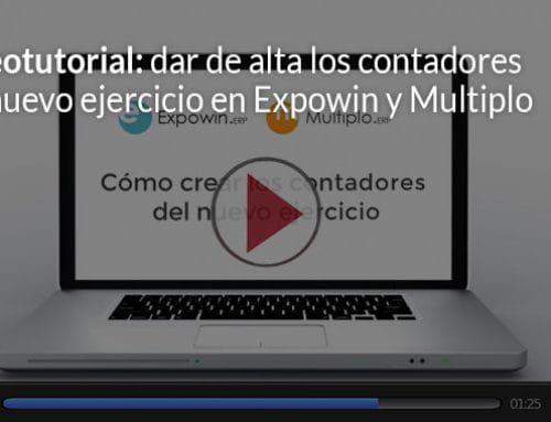 Vídeo: alta contadores de nuevo ejercicio en Expowin y Multiplo