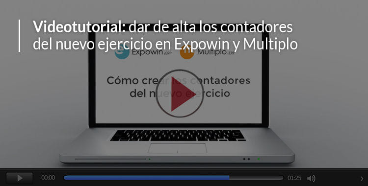 alta contadores del nuevo ejercicio en Expowin