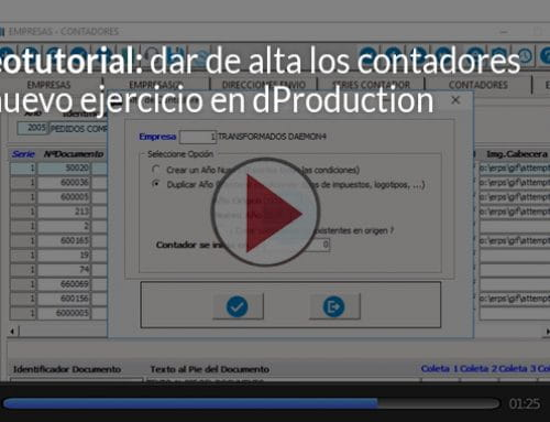 Vídeo: alta contadores de nuevo ejercicio en dProduction