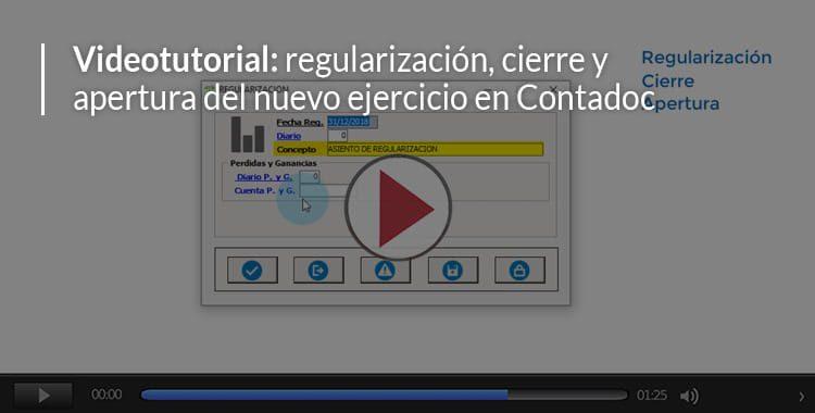 Vídeo: cierre y apertura del ejercicio contable