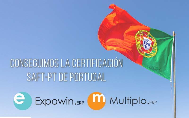 Conseguimos la certificación SAF-PT de Portugal para Expowin ERP y Múltiplo ERP