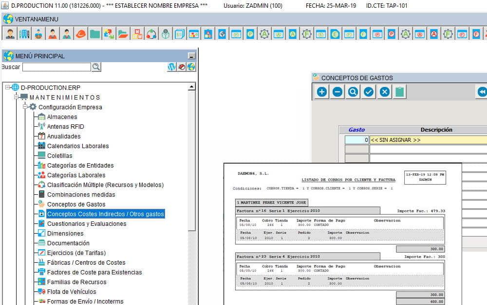 Módulo de contabilidad en Multiplo ERP