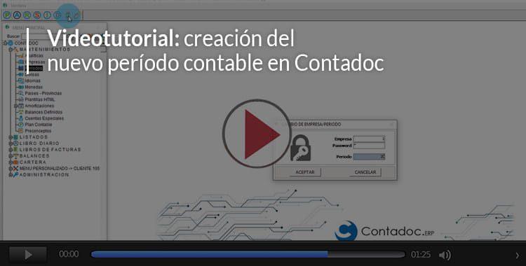 Vídeo: creación del periodo contable en Contadoc