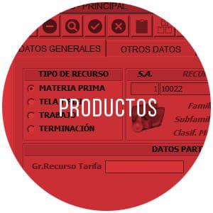 Módulo de gestión de productos