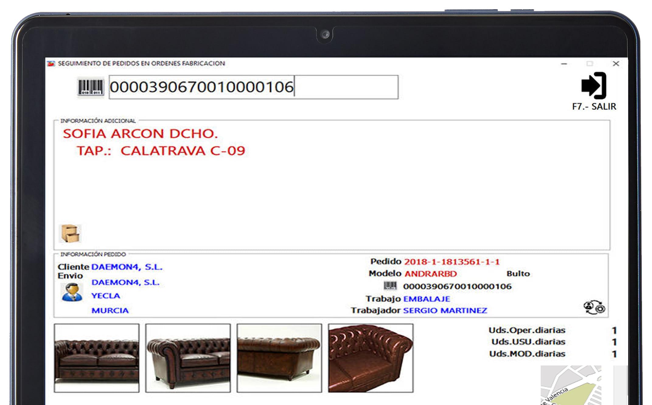 captura de imágenes en planta de producción