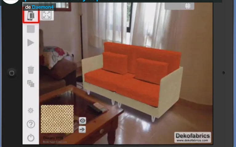 Vídeo: Deko3d, realidad aumentada para mueble y tapizado