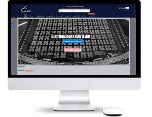 Desarrollo de tienda online para Distribuciones Cantelar