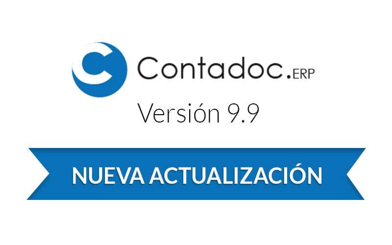 Nueva versión de Contadoc 9.9 ya disponible
