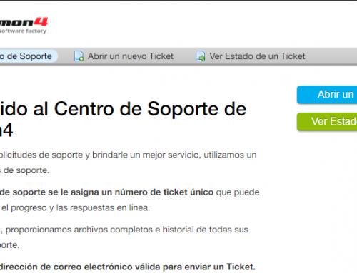Nuevo sistema de soporte mediante tickets electrónicos